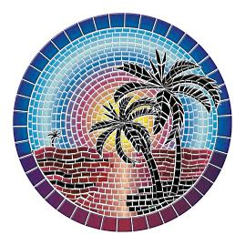 Island Sunset Pool Mat