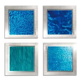 Set of Four Oceanic Wall Art