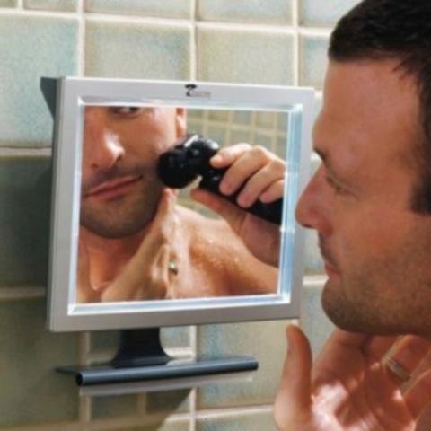 led fogfree shower mirror