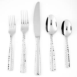 Lucca Faceted Flatware 5-piece Place Setting