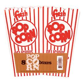 Set of Eight Fun Popcorn Boxes