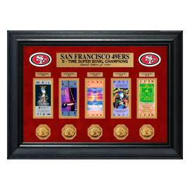 San Francisco 49ers Super Bowl Framed Tickets and