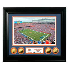 Ben Hill Florida Gators Gold Coin Photo Display