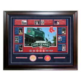 Fenway Park 100th Anniversary Dirt and Brick Collage