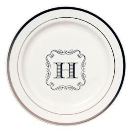 Premium Round Personalized Dinner Plates