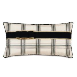 Abernathy Plaid Ribbon Decorative Pillow
