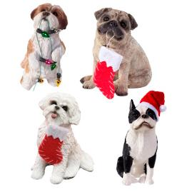 Hand-painted Holiday Dog Breed Ornaments