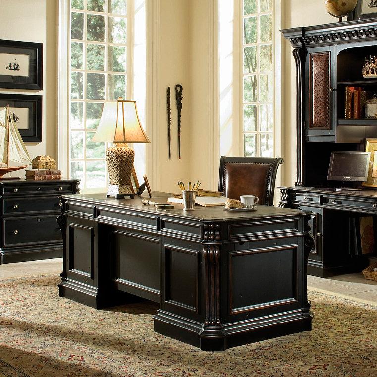 Hardwood Storage Desk Frontgate