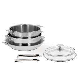 7-pc. Cristel Cateline Stainless Steel Removable Handle Cookware