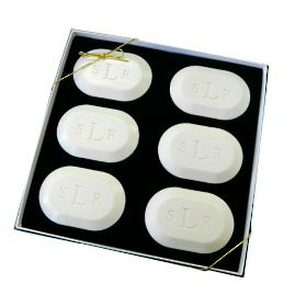 Monogrammed Triple Milled 6-Bar Oval Soap Set