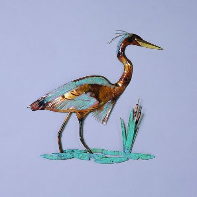Copper Heron Wall Art Frontgate