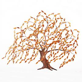 Copper Willow Tree Wall Art
