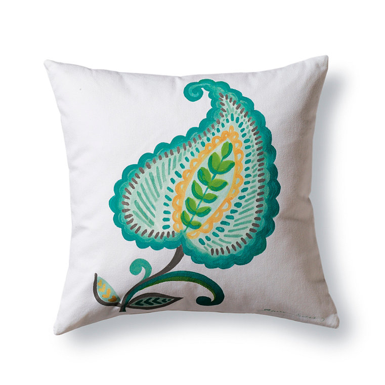 Decorative hand painted pillow frontgate for Hand painted pillows