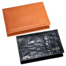Leather Card Case with ID Holder