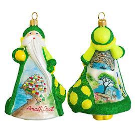Glitterazzi International Amalfi Coast Santa Ornament