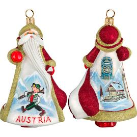 Glitterazzi International Austria Santa Ornament