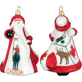 Glitterazzi International Canada Santa Ornament