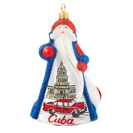 Glitterazzi International Cuba Santa Ornament