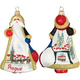 Glitterazzi International Prague Santa Ornament