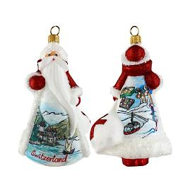 Glitterazzi International Swiss Santa Ornament