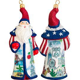 Glitterazzi International America Santa Ornament