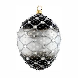 Glitterazzi Jeweled Ebony Egg Ornament