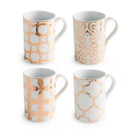 Set of Four Luxe Moderne Mugs