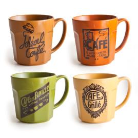 Cafe Bella Mugs, Set of Four
