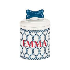 Personalized Nautical Treat Jar