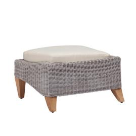 London Ottoman with Cushion by Summer Classics