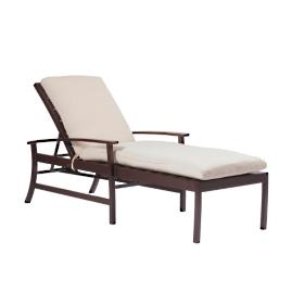 Charleston Chaise Lounge with Cushion by Summer Classics