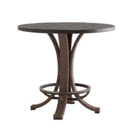 Tommy Bahama Blue Olive Round High/Low Table