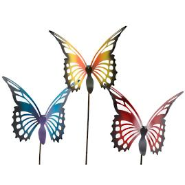 Butterfly Brights Garden Stakes, Set of Three