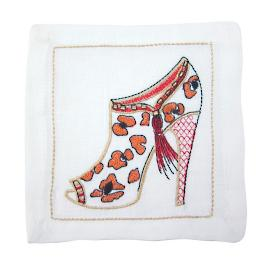 Kimmy Shoe Cocktail Napkins, Set of Six