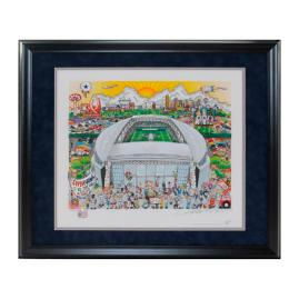 Dallas Cowboys Framed Pop Art by Charles Fazzino