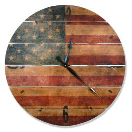 Rustic Flag Clock