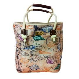 Coastal Map Tote Bag