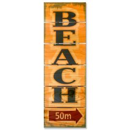 Beach Vintage Cedar Wall Art