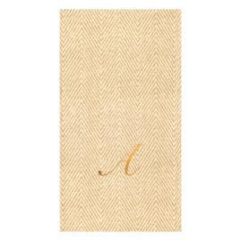 Caspari Jute Paper Linen Guest Towels, Set of