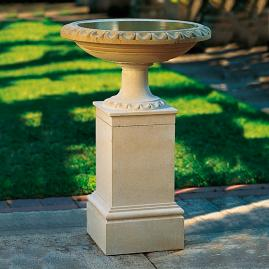 Regency Birdbath and Pedestal