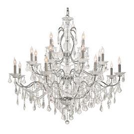 Vintage Crystal 20-Light Chandelier
