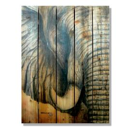 Elephant Cedar Wall Art