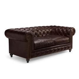 Barrow Chesterfield Leather Loveseat