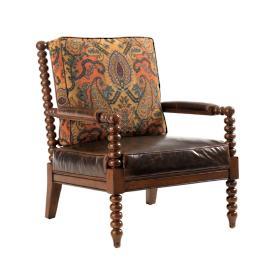 Tommy Bahama Maarten Rust Leather Chair