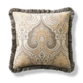 York Brush Fringe Decorative Pillow