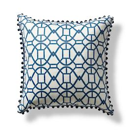 Bridgetown Beaded Lattice Decorative Pillow
