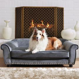 Velvet Lounge Pet Bed