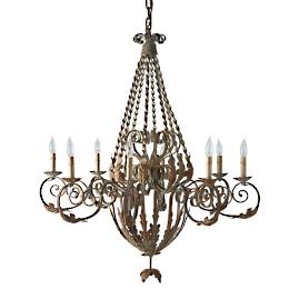Twisted French Chandelier
