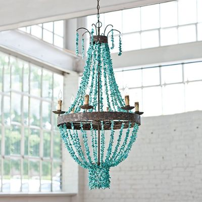 Beaded Turquoise Chandelier Frontgate