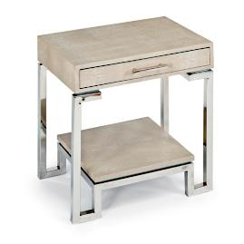 Shagreen End Table with Drawer